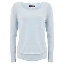 Buy Mint Velvet Marl Tie Back Knitted Jumper, Sky Online at johnlewis.com