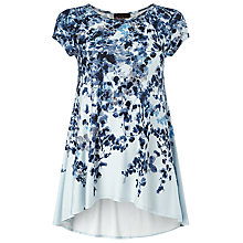 Buy Phase Eight Phillipa Cap Sleeve Top, Blue Online at johnlewis.com