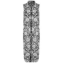 Buy Miss Selfridge Monochrome Floral Maxi Shirt, Multi Online at johnlewis.com