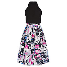 Buy Warehouse Brushstroke Print Dress, Multi Online at johnlewis.com