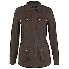 Buy Miss Selfridge Utility Jacket, Khaki Online at johnlewis.com