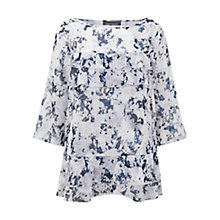 Buy Mint Velvet Teagan Print Ruffle Top, Multi Online at johnlewis.com
