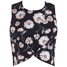 Buy Miss Selfridge Daisy Wrap Front Shell Top, Black Online at johnlewis.com