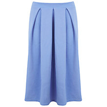 Buy Miss Selfridge Cornflower Midi Skirt, Blue Online at johnlewis.com
