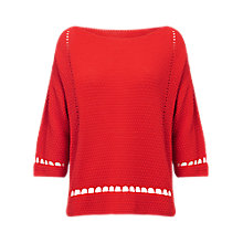 Buy Phase Eight Millie Stitch Knit Jumper, Red Online at johnlewis.com