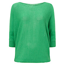 Buy Phase Eight Tape Yarn Becca Batwing Jumper, Emerald Online at johnlewis.com