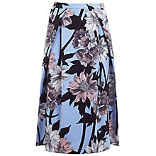 Buy Miss Selfridge Graphic Floral Cotton Skirt, Multi Online at johnlewis.com