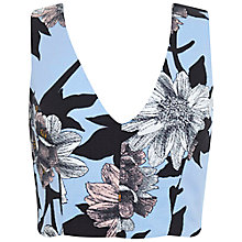 Buy Miss Selfridge Graphic Floral Cotton Top, Multi Online at johnlewis.com