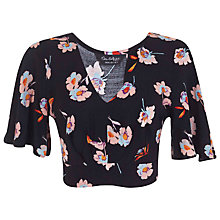 Buy Miss Selfridge Floral Angel Crop Top, Multi Online at johnlewis.com