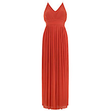 Buy Miss Selfridge Pleated Dress, Orange Online at johnlewis.com