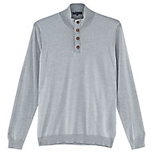 Buy Aquascutum Tristan Merino Funnel Neck Top, Grey Online at johnlewis.com