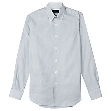Buy Aquascutum Alan Stripe Shirt, White/Blue Online at johnlewis.com