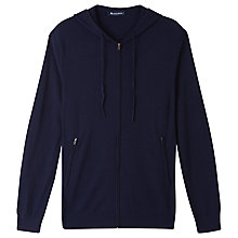 Buy Aquascutum Merino Wool Hoodie, Navy Online at johnlewis.com