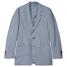 Buy Aquascutum McGrath Linen Blend Blazer, Blue Online at johnlewis.com