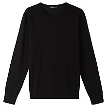 Buy Aquascutum Merino Crew Neck Jumper, Black Online at johnlewis.com