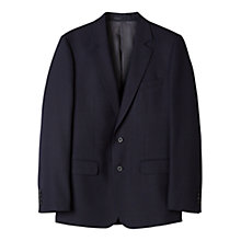 Buy Aquascutum Hopsack Clothier Finish Wool Suit Jacket, Navy Online at johnlewis.com
