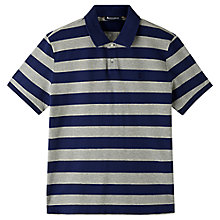 Buy Aquascutum Womack Stripe Polo Shirt, Blue/Grey Online at johnlewis.com