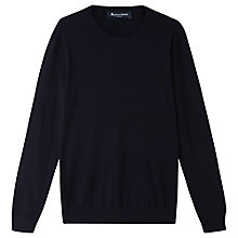 Buy Aquascutum Merino Crew Neck Jumper, Navy Online at johnlewis.com