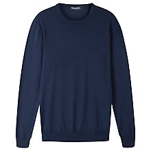Buy Aquascutum Preston Merino Jumper, Navy Online at johnlewis.com