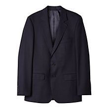Buy Aquascutum Twill Wool Suit Jacket, Navy Online at johnlewis.com