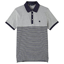 Buy Aquascutum Nelson Stripe Polo Shirt, Grey Online at johnlewis.com