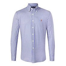 Buy Polo Ralph Lauren Mini Gingham Shirt, Royal Blue/White Online at johnlewis.com