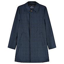 Buy Aquascutum Church Check Raincoat, Blue Online at johnlewis.com
