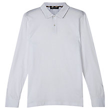 Buy Aquascutum Kendrick Long Sleeve Polo Shirt, White Online at johnlewis.com