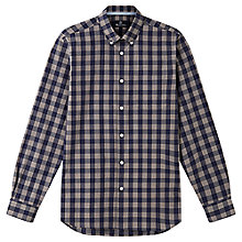 Buy Aquascutum Fraser Check Shirt, Navy Online at johnlewis.com