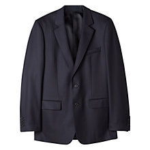 Buy Aquascutum Herringbone Twill Suit Jacket, Navy Online at johnlewis.com