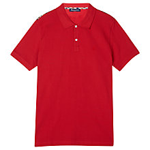Buy Aquascutum Hill Pique Cotton Polo Shirt, Red Online at johnlewis.com