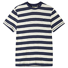 Buy Aquascutum Buster Stripe Short Sleeve T-Shirt, Blue/White Online at johnlewis.com