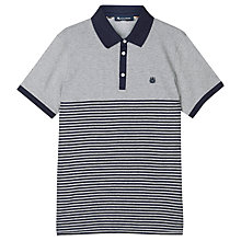 Buy Aquascutum Nelson Stripe Polo Shirt, Navy Online at johnlewis.com