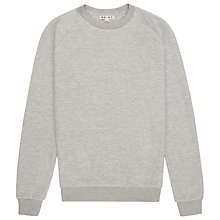 Buy Reiss Diamond Quilted Sweatshirt, Grey Online at johnlewis.com