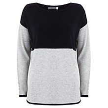 Buy Mint Velvet Blocked Knitted Jumper, Blue Online at johnlewis.com