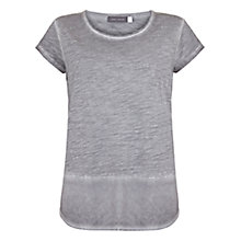 Buy Mint Velvet Woven Hem T-Shirt Online at johnlewis.com