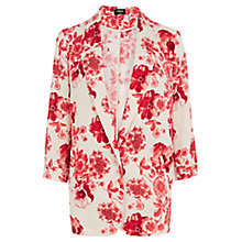 Buy Oasis Etched Botanic Jacket, Ivory/Poppy Online at johnlewis.com