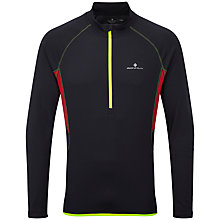 Buy Ronhill Advance Long Sleeve Half-Zip Running Top, Black/Red Online at johnlewis.com