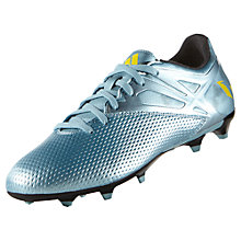 Buy Adidas Messi 15.3 Firm Ground Men's Football Boots, Grey Online at johnlewis.com