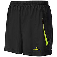"Buy Ronhill Vizion 5"" Running Shorts, Black/Yellow Online at johnlewis.com"