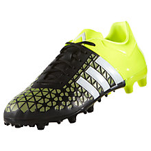 Buy Adidas Ace 15.3 FG Men's Football Boots, Core Black/Solar Yellow Online at johnlewis.com