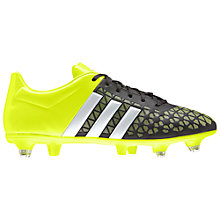 Buy Adidas Ace 15.3 Soft Ground Men's Football Boots, Core Black/Solar Yellow Online at johnlewis.com