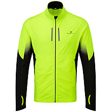 Buy Ronhill Vizion Mistral Running Jacket, Fluorescent Yellow/Black Online at johnlewis.com