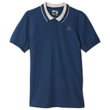 Buy Adidas Essentials Polo Shirt, Collegiate Navy Online at johnlewis.com