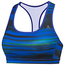 Buy Adidas Go-to Gear Racer-Back A/B Sports Bra, Black/Blue Online at johnlewis.com