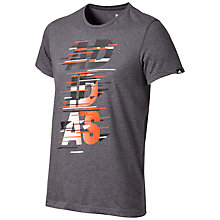 Buy Adidas Dispatch Short Sleeve T-Shirt, Dark Grey Heather Online at johnlewis.com