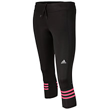 Buy Adidas Response 3/4 Running Tights, Black/Super Pink Online at johnlewis.com