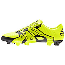 Buy Adidas x15.3 FG Football Boots, Solar Yellow/Core Black Online at johnlewis.com