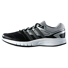 Buy Adidas Galaxy Men's Cross Trainers, Black/Grey Online at johnlewis.com