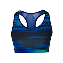 Buy Adidas Go-to Gear Racer-Back C/D Sports Bra, Black/Blue Online at johnlewis.com